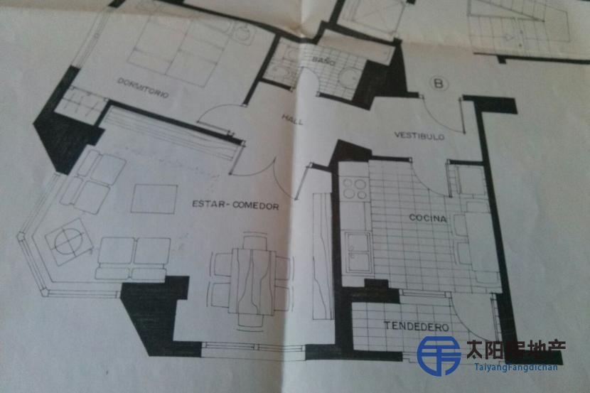 销售位于Oviedo (阿斯图里亚斯省)市中心的单身公寓