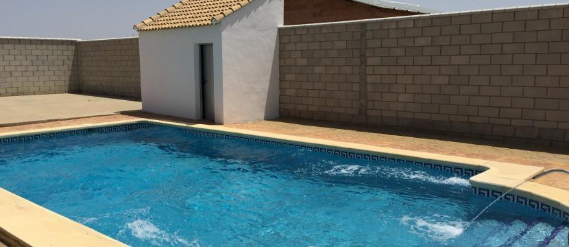 带游泳池的别墅.