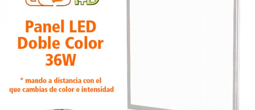 Pack 2 paneles + 1 Mando 60x60 Doble Color