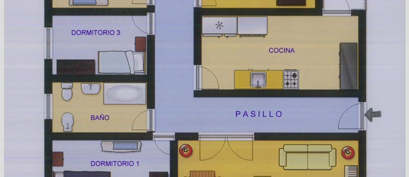 4 間臥室的公寓,寬敞和明亮