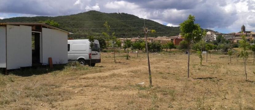 正在建设中的野营地