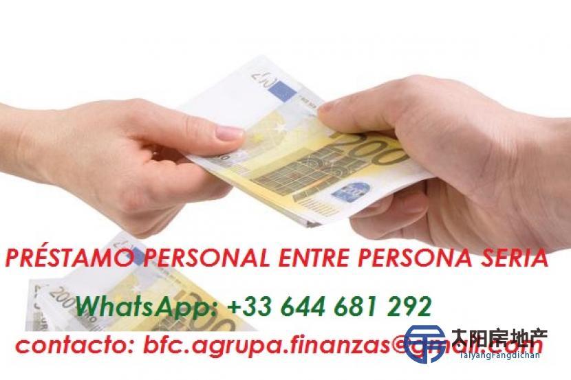 PRESTAMOS A SUS PROBLEMAS DE PLATA SIN AVAL SIN BANCO (WhatsApp: +33 644 681 292)