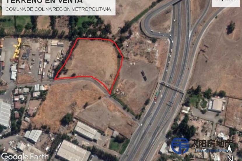 10300平方米城市化土地,在Los Libertadores高速公路上的工业部门