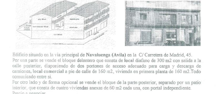 EDIFICIO ZONA COMERCIAL PUEBLO MÁS TURISTICO AVILA