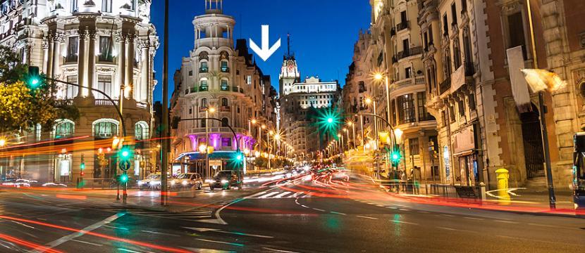位于马德里市中心的小旅馆